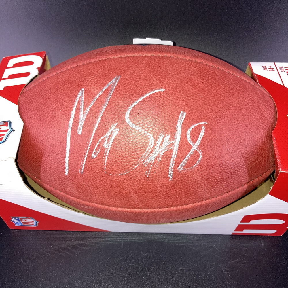 NFL - Patriots Mathew Slater Signed Authentic Football