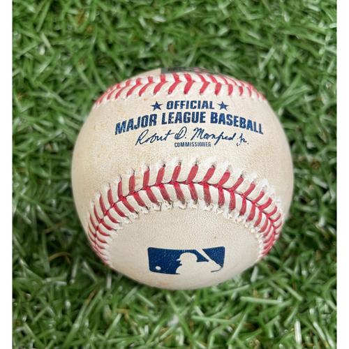 Photo of Game Used Baseball: Joey Wendle single off Hyun-Jin Ryu - Bottom 5 - August 22, 2020 v TOR