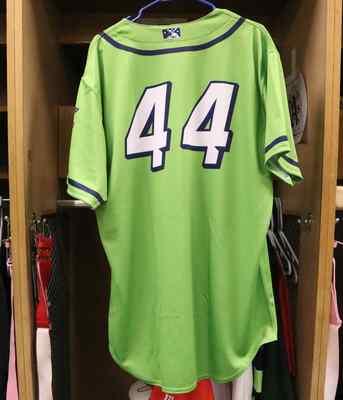 Stockton Ports Pedro Santos Asparagus jersey, #44, Size 48