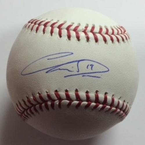 Chris Davis Autographed Baseball