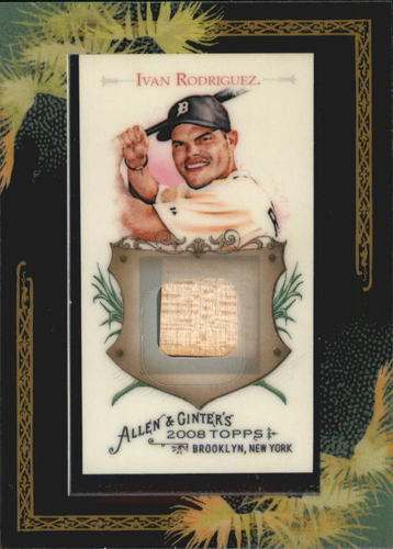 Photo of 2008 Topps Allen and Ginter Relics #IR2 Ivan Rodriguez Bat B