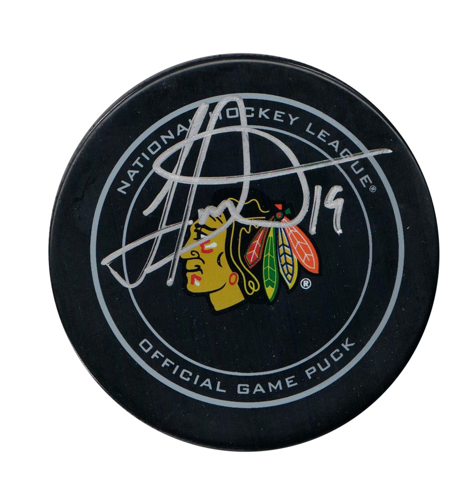 Jonathan Toews - Signed Chicago Blackhawks Official Game Puck