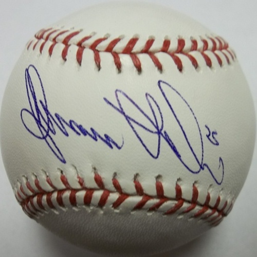 Photo of Adam LaRoche Autographed Baseball
