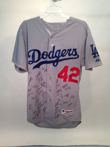 2014 Jackie Robinson Day Jersey - Los Angeles Dodgers Team Autographed Jersey