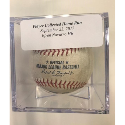 Player Collected Baseball: Efren Navarro Home Run