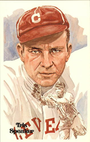 Photo of 1980-02 Perez-Steele Hall of Fame Postcards #11 Tris Speaker -- HOF Class of 1937