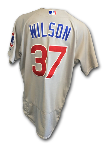 Justin Wilson Game-Used Jersey -- Cubs Clinch 2017 NL Central Division -- Cubs at Cardinals -- 9/27/17