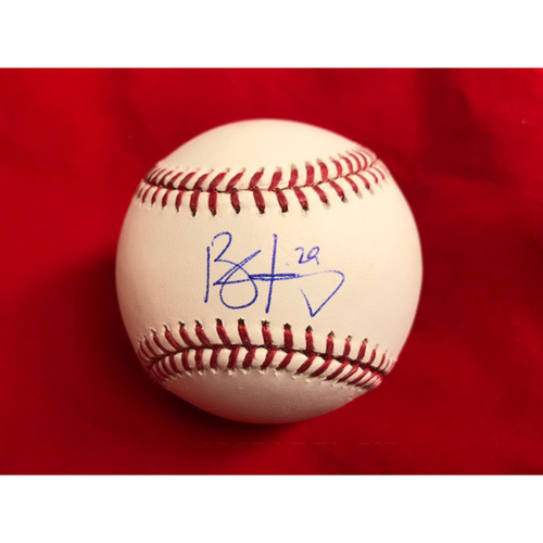 Photo of Brandon Finnegan -- Autographed Baseball