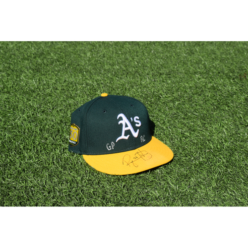 Photo of Oakland Athletics Game Used Autographed Ryan Buchter 50th Anniversary Cap