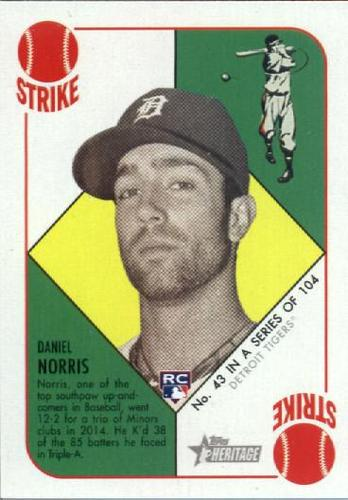 Photo of 2015 Topps Heritage '51 Collection #43 Daniel Norris RC