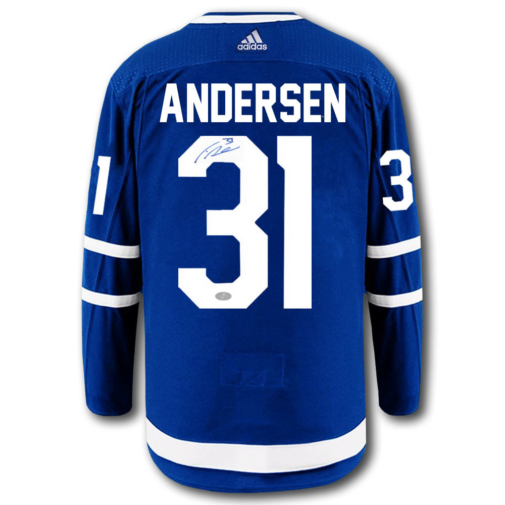 Frederik Andersen Toronto Maple Leafs Adidas Pro Autographed Jersey