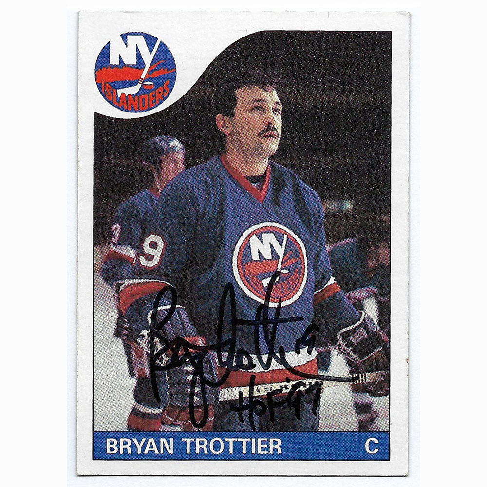 Bryan Trottier Autographed 1985-86 Topps Hockey Card
