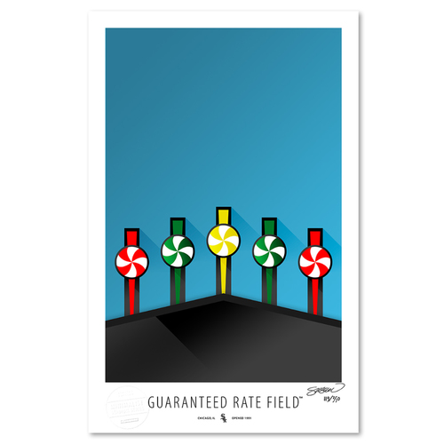 Photo of Guaranteed Rate Field - Collector's Edition Minimalist Art Print by S. Preston #119/350  - Chicago White Sox