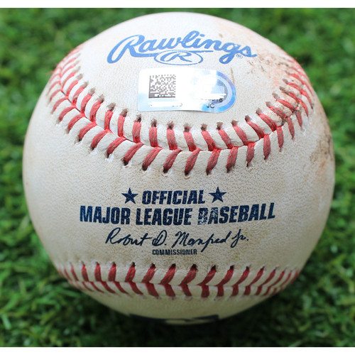 Photo of Game-Used Baseball: Ivan Nova Pitched 885th Career Strikeout (CWS @ KC - 6/7/19)
