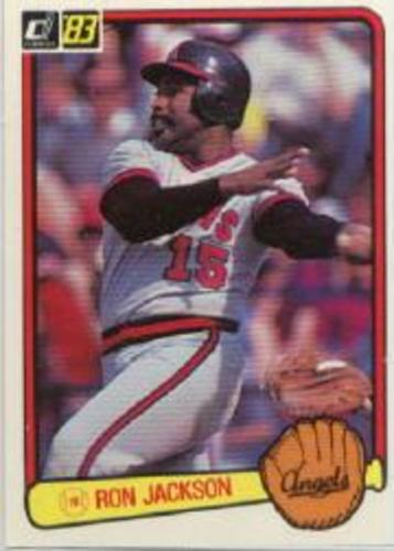 Photo of 1983 Donruss #639B Ron Jackson COR/Angels in glove,/red border/on photo