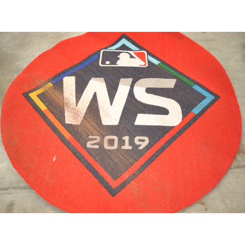 Photo of Game-Used On Deck Circle - 2019 World Series - Washington Nationals vs. Houston Astros - Washington Nationals On Deck Circle - Games 1,2,6,7