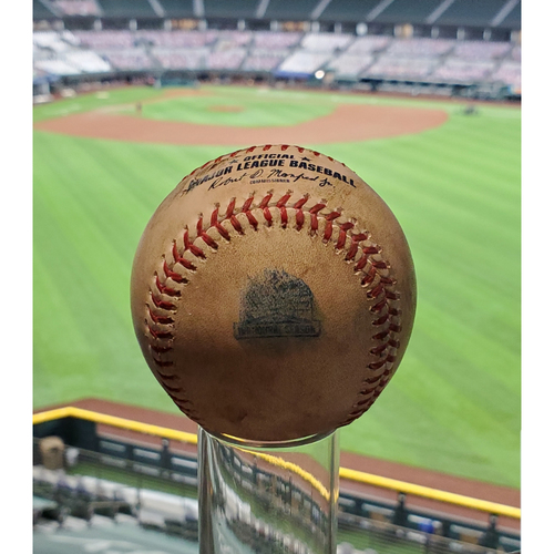 Photo of Game-Used Baseball - 9/10/2020 - Mike Trout Home Run (16) (Kyle Gibson)
