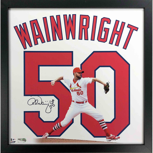 Photo of Cardinals Authentics: Adam Wainwright Autographed 13*13 Uniframe
