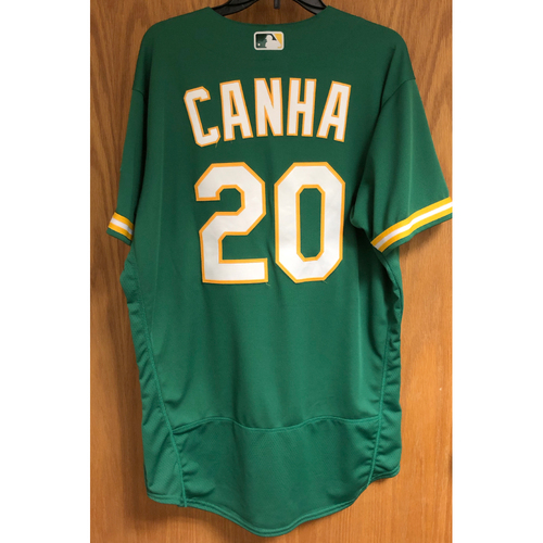 Photo of Game-Used 2020 Jersey - Mark Canha (7/27/20 - HR #1; Career #68)