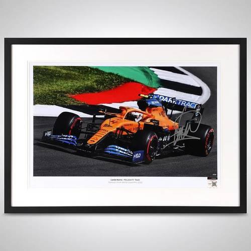 Photo of Lando Norris 2020 Framed Signed Photo - British GP