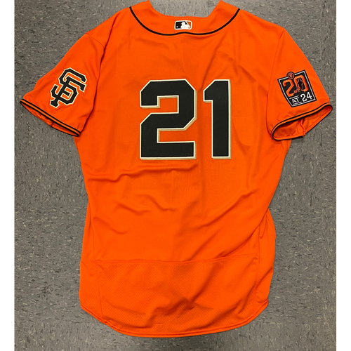 Photo of 2020 Team Issued Orange Home Alt Jersey - #21 Joey Bart - Size 48