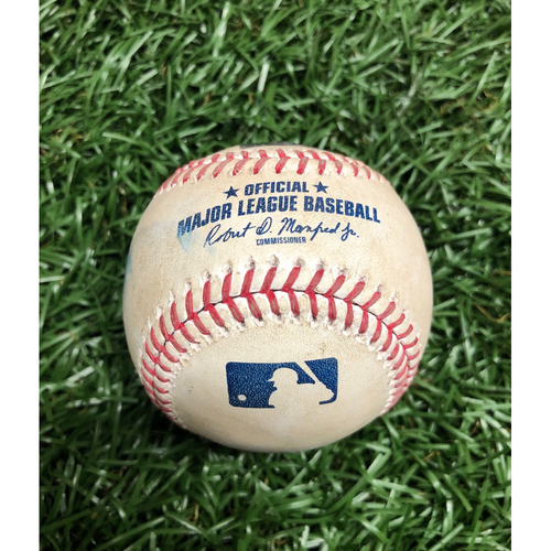 Photo of Game Used Baseball: Joey Wendle foul ball off Will Harris - September 16, 2020 v WSH