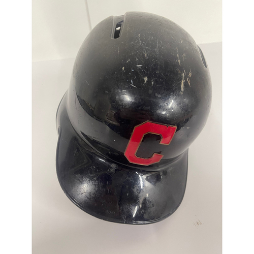 Photo of Game Used Batting Helmet- Mike Freeman - Twins at Indians 9/15/2019