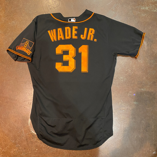 Photo of 2021 Team Issued Black Home Alt Jersey - #31 LaMonte Wade Jr. - Size 46