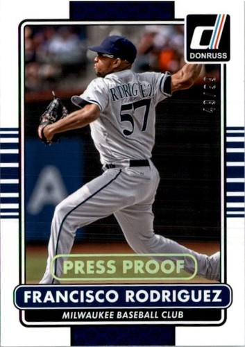 Photo of 2015 Donruss Press Proofs Gold #117 Francisco Rodriguez