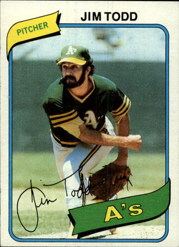 Photo of 1980 Topps #629 Jim Todd