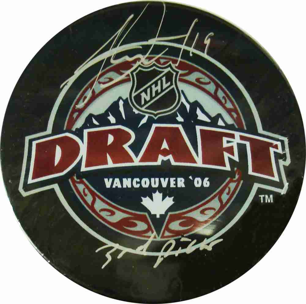 Jonathan Toews - Signed & Inscribed 2006 Draft Puck - Inscribed