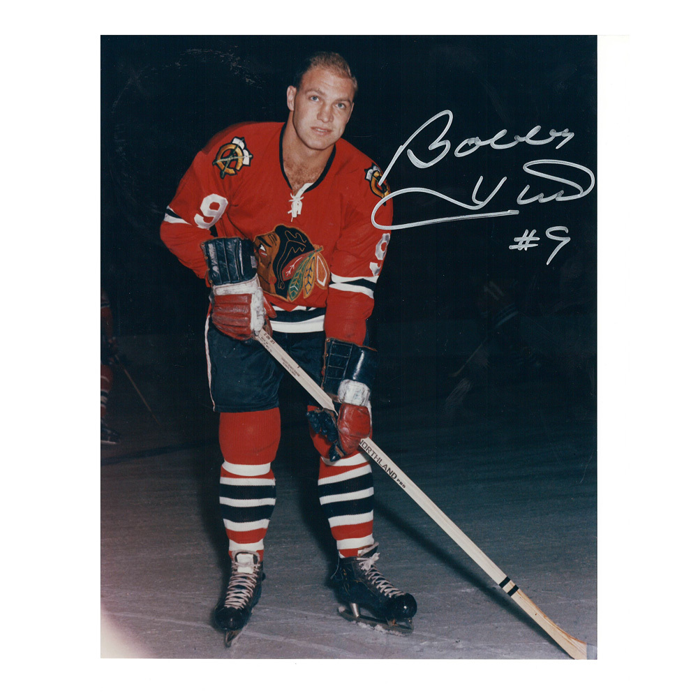 BOBBY HULL Signed Chicago Blackhawks 8 X 10 Photo - 70090
