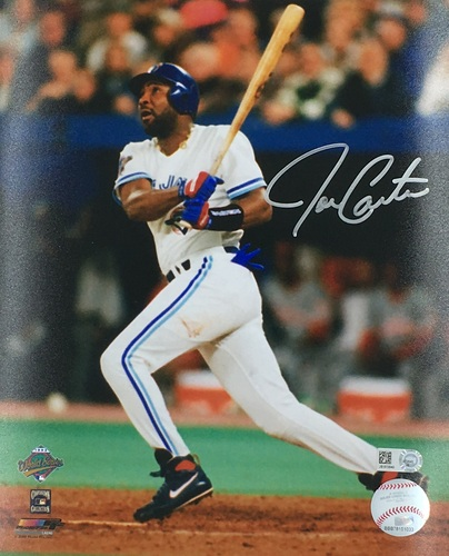 Photo of Joe Carter Autographed 8x10