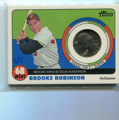 Photo of 2017 Topps Heritage '68 Mint Quarter Brooks Robinson 3/5 -- only 5 made
