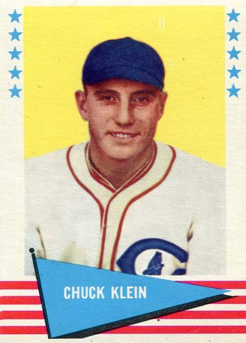 Photo of 1961 Fleer #51 Chuck Klein -- Hall of Fame Class of 1980