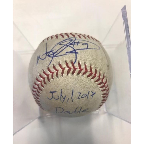 Autographed Game-Used Baseball: Nicholas Castellanos Double