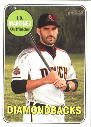 Photo of 2018 Topps Heritage #294 J.D. Martinez