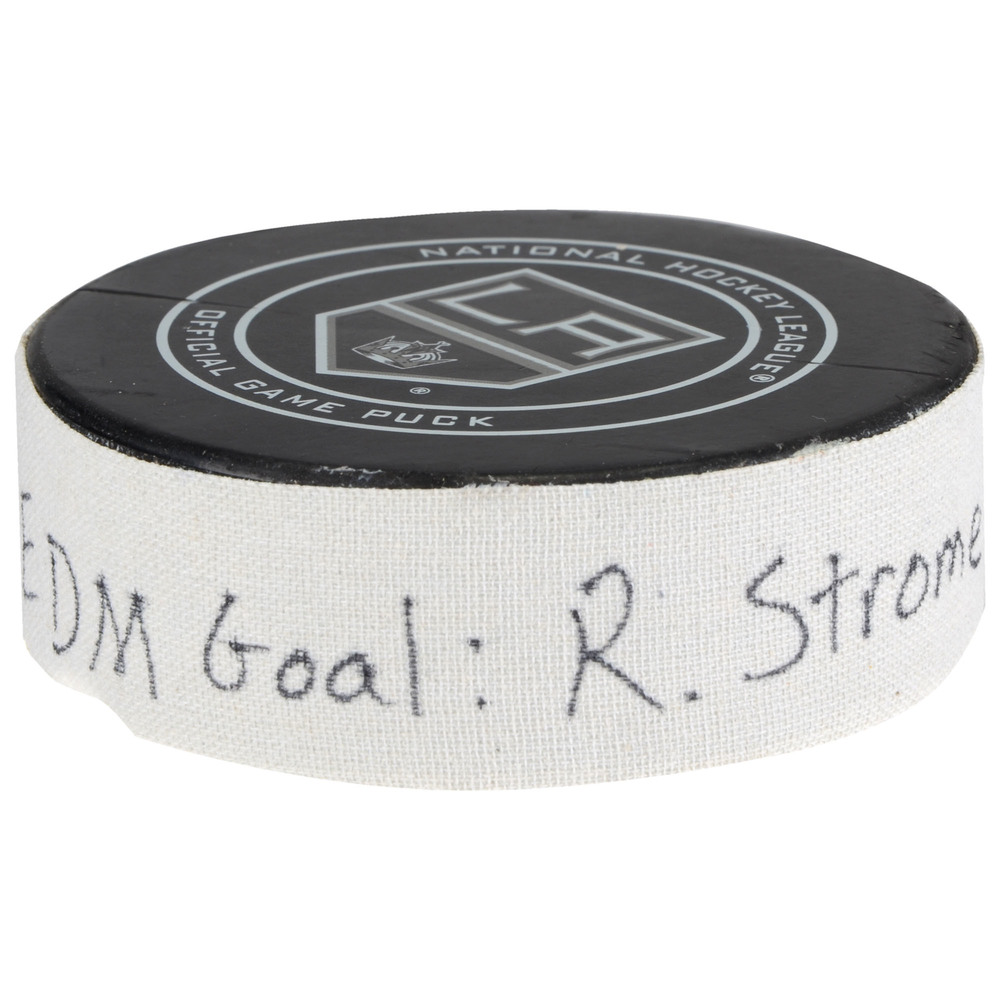Ryan Strome Edmonton Oilers Goal Scored Puck from February 24, 2018 vs. Los Angeles Kings