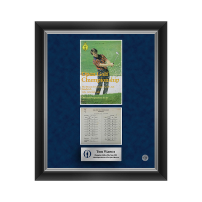 Photo of 2 of 500 L/E Tom Watson, The 109th Open Final Round Scorecard and 1981 Programme Cover Reproductions Framed