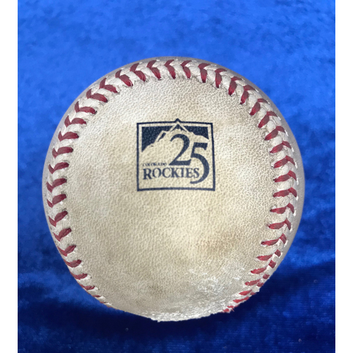 Photo of Player Collected Baseball: Justin Upton Home Run - May 9th 2018 v Colorado Rockies