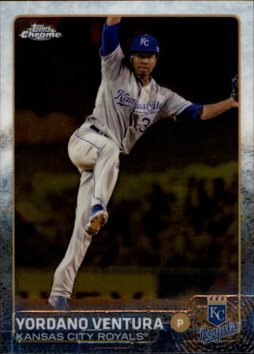 Photo of 2015 Topps Chrome #136 Yordano Ventura