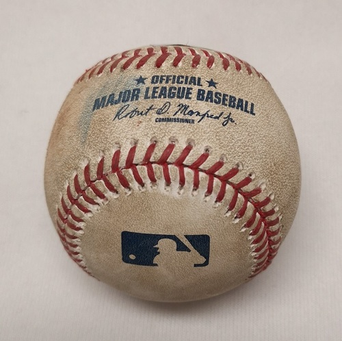 Photo of Authenticated Game Used Baseball - Single by Christian Vazquez against Marcus Stroman (April 18, 2017; Top 4).