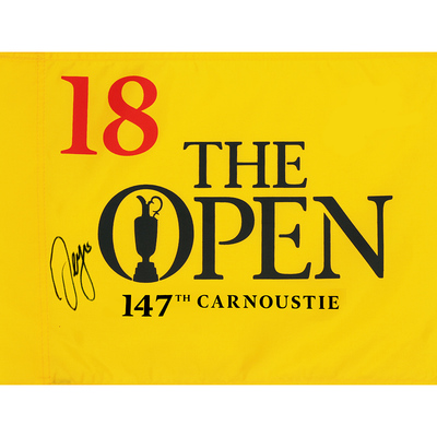 Photo of Sergio Garcia, The 147th Open Carnoustie Autographed Souvenir Pin Flag