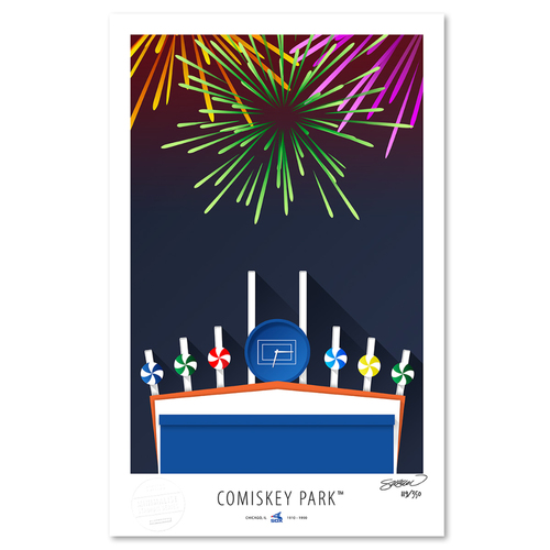 Photo of Comiskey Park- Collector's Edition Minimalist Art Print by S. Preston #119/350  - Chicago White Sox