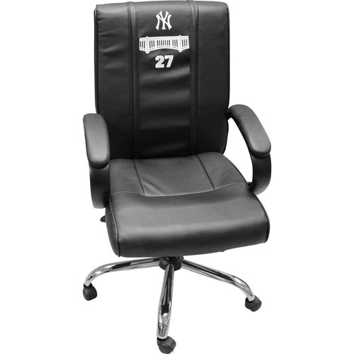 Photo of Giancarlo Stanton New York Yankees 2018 Game Used #27 Clubhouse Chair (9/23/2018, 10/3/2018, 10/8/2018)