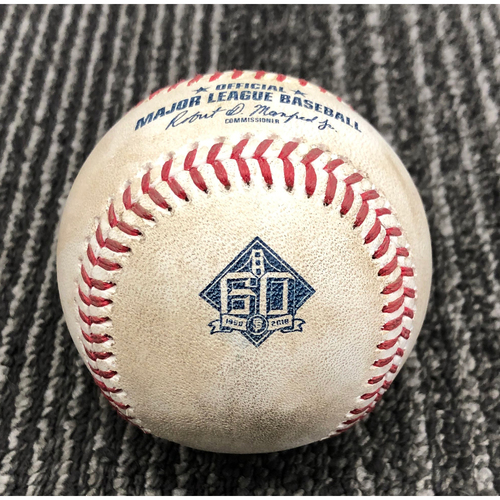 Photo of 2018 Game-Used Baseball - Andrew Suarez Career Hit #2! On 7/29 vs. Milwaukee Brewers - B-4: Junior Guerra to Andrew Suarez - Single to LF