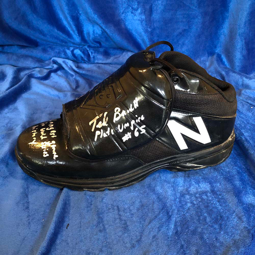 Photo of UMPS CARE AUCTION: 2018 World Series Game-Used Ted Barrett Signed Umpire Cleat