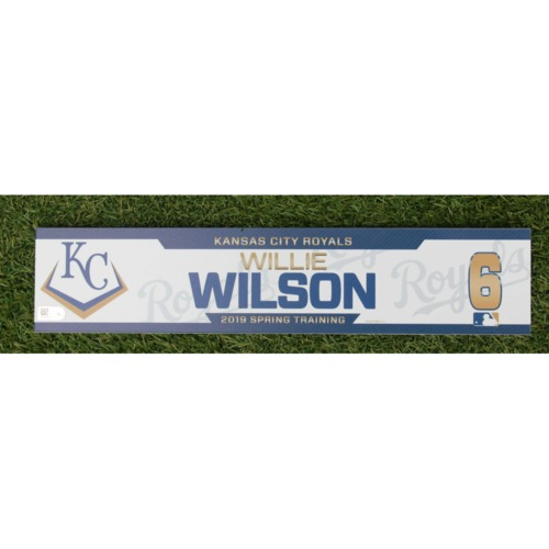 Photo of Team-Issued Spring Training Locker Tag: Willie Wilson