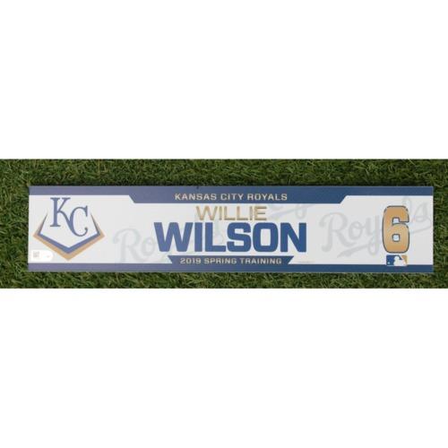 Photo of Team-Issued Spring Training Locker Tag: Willie Wilson