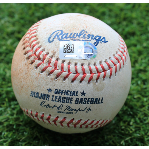 Photo of Game-Used Baseball: Ivan Nova Pitched 883rd Career Strikeout (CWS @ KC - 6/7/19)